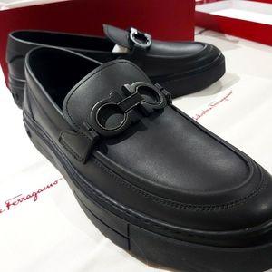 Salvatore Ferrgamo Axel Sneaker Dress Shoes Size